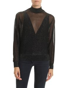 Alberta Ferretti - Turtleneck in black and golden