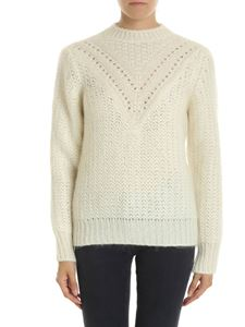Alberta Ferretti - Pullover in cream white