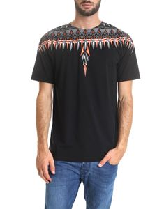 Marcelo Burlon - Black T-shirt with Norwegian Wings print