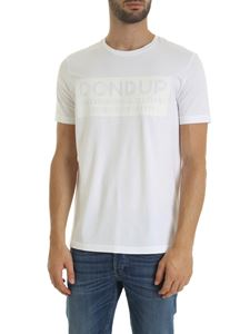 Dondup - White T-shirt with tone on tone logo