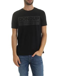 Dondup - Black T-shirt with tone on tone logo
