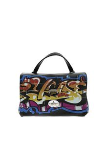 Zanellato - Postina S bag in black Graffiti Line