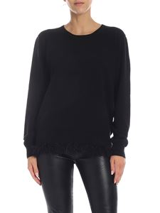 Ballantyne - Black pullover with feathers on the bottom