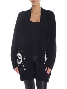 Dondup - Black cardigan with zodiac embroidery