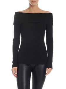 Parosh - Loulux sweater in black and lamè