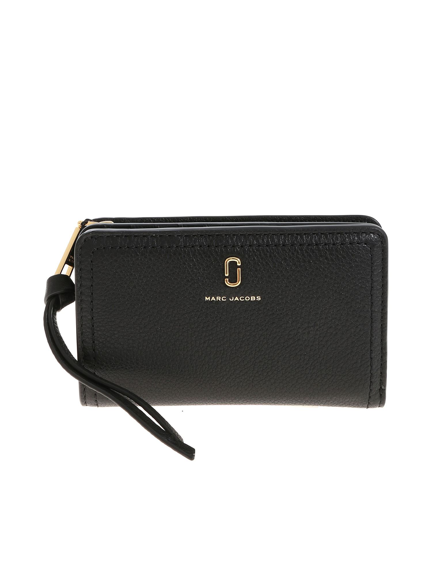 Marc By Marc Jacobs Black Wallet With Golden Logo