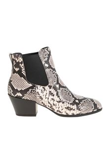 Hogan - H401 ankle boots with reptile print