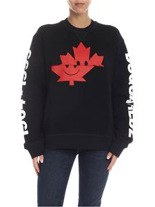 Dsquared2 - Black sweatshirt with Canada print