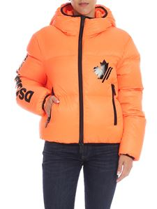 Dsquared2 - Neon orange down jacket with black details