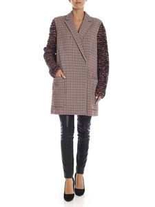 Missoni - Houndstooth coat in orange and blue