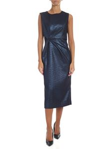 Parosh - Primer dress in black and lamé