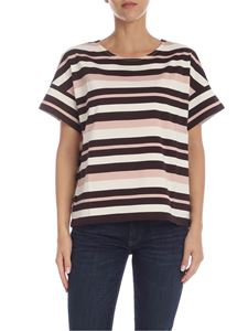 Max Mara Weekend - Celso t-shirt in cream brown and pink