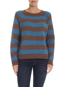Max Mara Weekend - Striped pullover in brown and teal blue