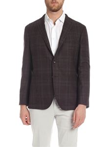 Boglioli - Brown jacket with tartan print