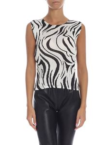 PLEATS PLEASE Issey Miyake - Aroma top in black and white