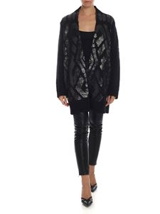 Dondup - Black cardigan with black and gold coated
