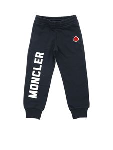 Moncler Jr - Blue fleece trousers