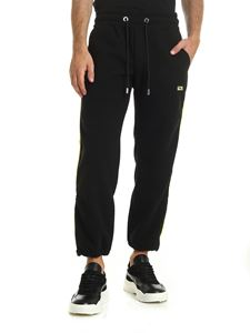 GCDS - Black fleece trousers