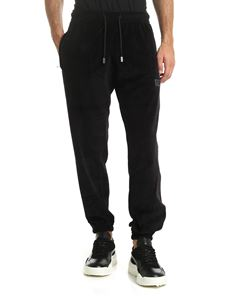 GCDS - Black chenille trousers