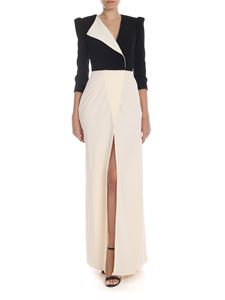 Elisabetta Franchi - Long dress in black and cream color