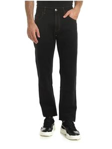 GCDS - Black jeans with contrasting stitching