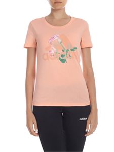 Adidas - Mh Flower T-shirt in peach pink color