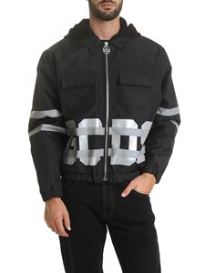 GCDS - Black jacket with reflective details