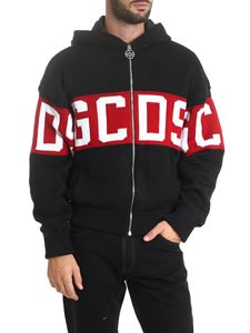 GCDS - Knitted jacket in black