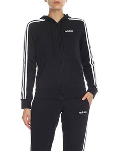 Adidas - Felpa Essentials 3-Stripes nera