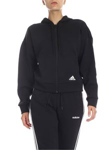 Adidas - Felpa nera Must Have 3-Stripes