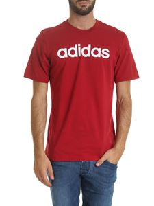 Adidas - E Lin crewneck T-shirt in dark red