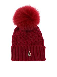 Moncler Grenoble - Hat in magenta with fur pom-pom