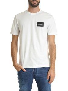 Calvin Klein - Chest Box logo T-shirt in white