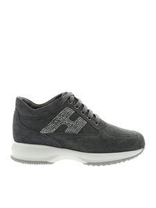 Hogan - Interactive sneakers in gray with glitter