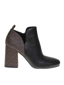 Michael Kors - Dixon ankle boots in black and monogram