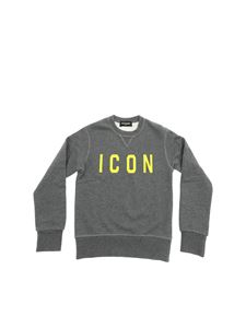 Dsquared2 - Dark grey sweatshirt with yellow Icon print