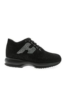 Hogan - Interactive black sneakers with glitter