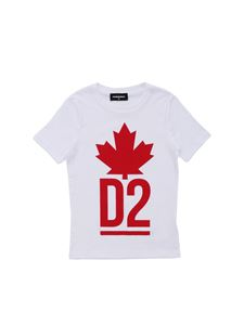 Dsquared2 - White T-shirt with red print