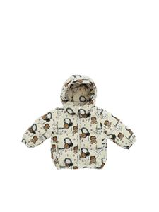 Moschino Kids - Music Teddy Bear down jacket in white
