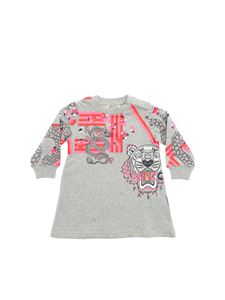 Kenzo - Japanese Flower Tiger dress in grey