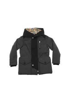 Burberry - Eddie down jacket with hood in anthracite color