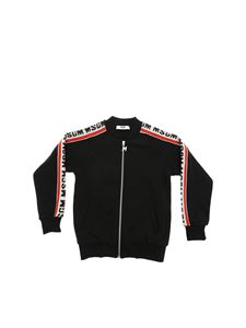 MSGM - Black sweatshirt with branded MSGM bands