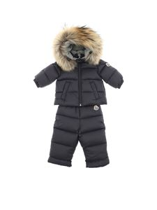 Moncler Jr - Tuta New Mauger blu in piumino