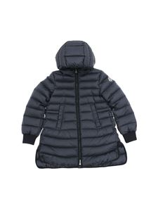 Moncler Jr - Bouchet blue down jacket with hood