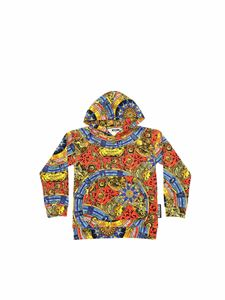 Moschino Kids - Red and blue sweatshirt with Roman Scarf print