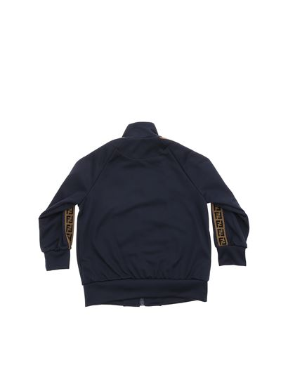 Fendi Jr - Blue sweatshirt with F is Fendi logo