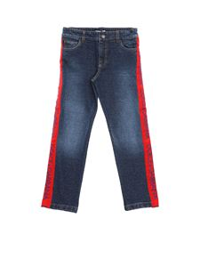 Dolce & Gabbana Jr - Blue jeans with sidebands