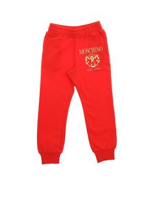 Moschino Kids - Roman Double Question trousers in red