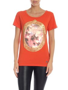 Vivienne Westwood  - Crackle effect print T-shirt in orange