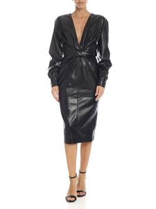 MSGM - Eco leather dress in black